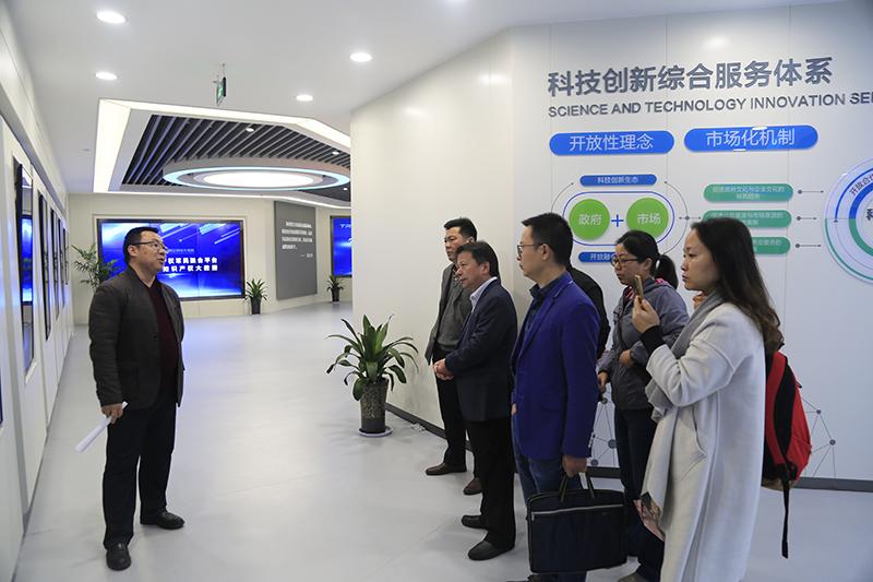 湖南株洲市科技局一行调研大市场
